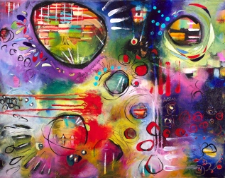 """The Sound of Words 16"""" x 20 """" SOLD"""