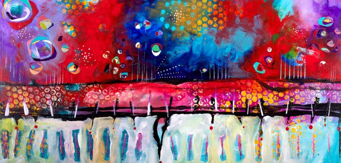 """""""Underneath It All"""" 12"""" x 24"""" SOLD"""