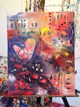 "Art Battle Training Painting #2, 16"" x 20"", SOLD."