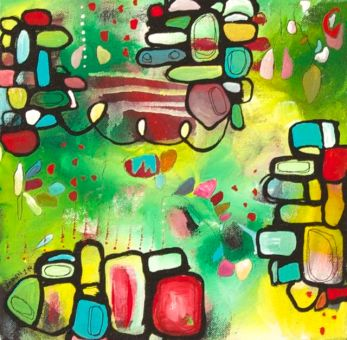 """""""Foundations"""" 10"""" x 10"""" $SOLD"""
