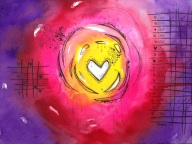 "Love - 9"" x 12"" SOLD"